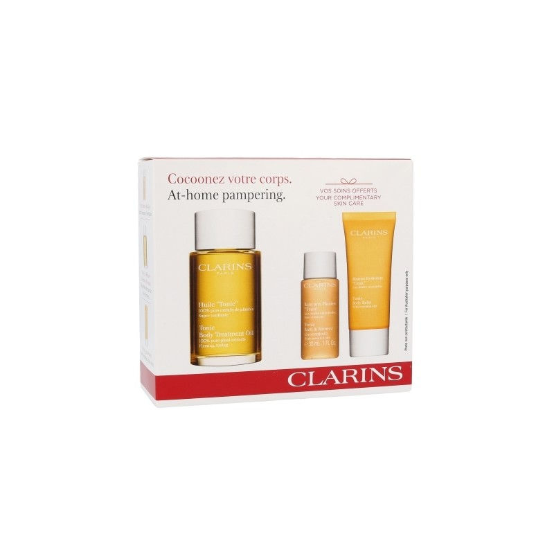Clarins At Home Pampering Kit (100ml) (Tonic Body Treatment Oil 100 ml +