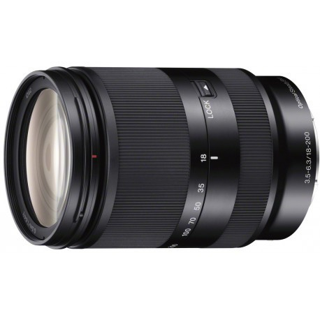 Sony E 18-200mm f/3.5-6.3 OSS objektīvs, melns