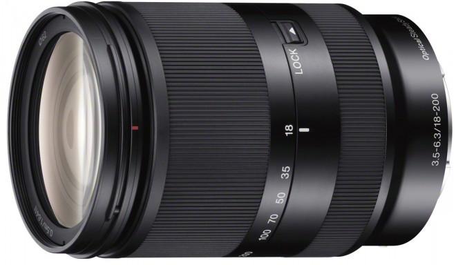 Sony E 18-200mm f/3.5-6.3 OSS objektiiv, must
