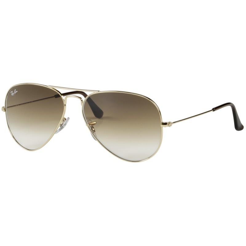 RayBan Aviator RB3025 001 51 58 gold crystal brown gradient - Sunglasses -  Photopoint 242b508538da