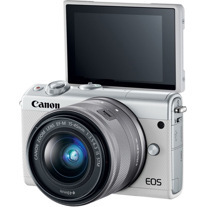 Canon EOS M100 + EF-M 15-45mm IS STM, white