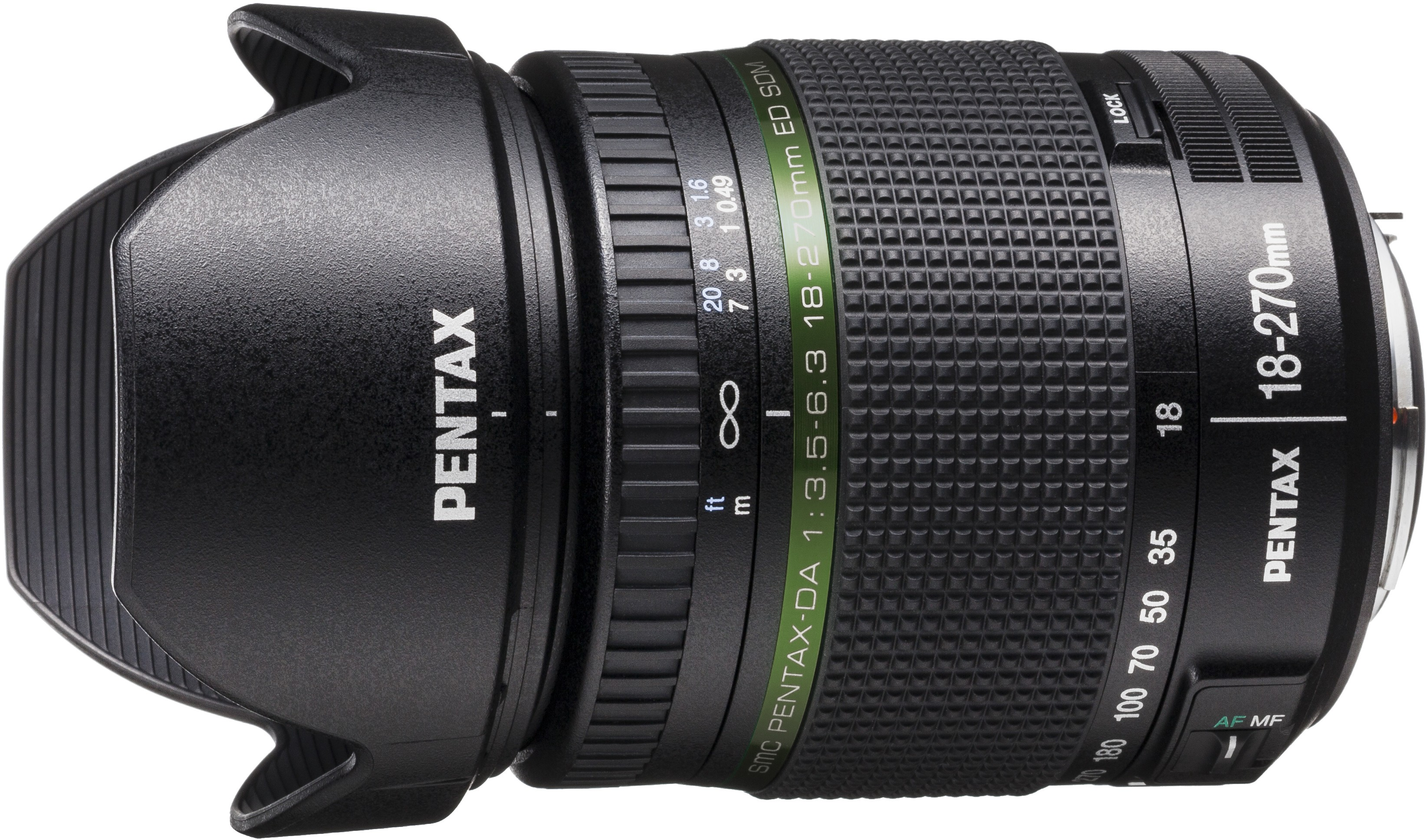 smc Pentax DA 18-270mm f/3.5-6.3 ED SDM objektiiv