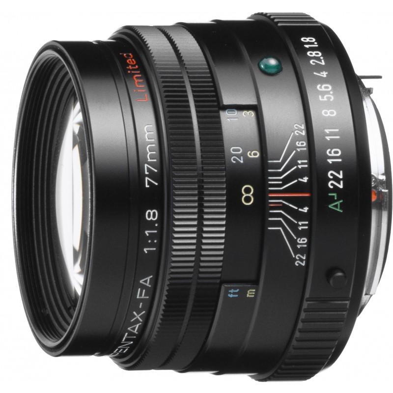 smc Pentax FA 77mm f/1.8 Limited objektiiv, must