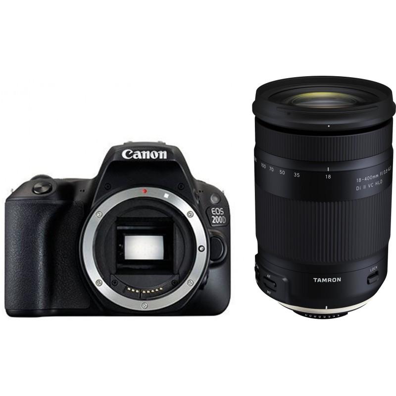 Canon EOS 200D + Tamron 18-400mm, black