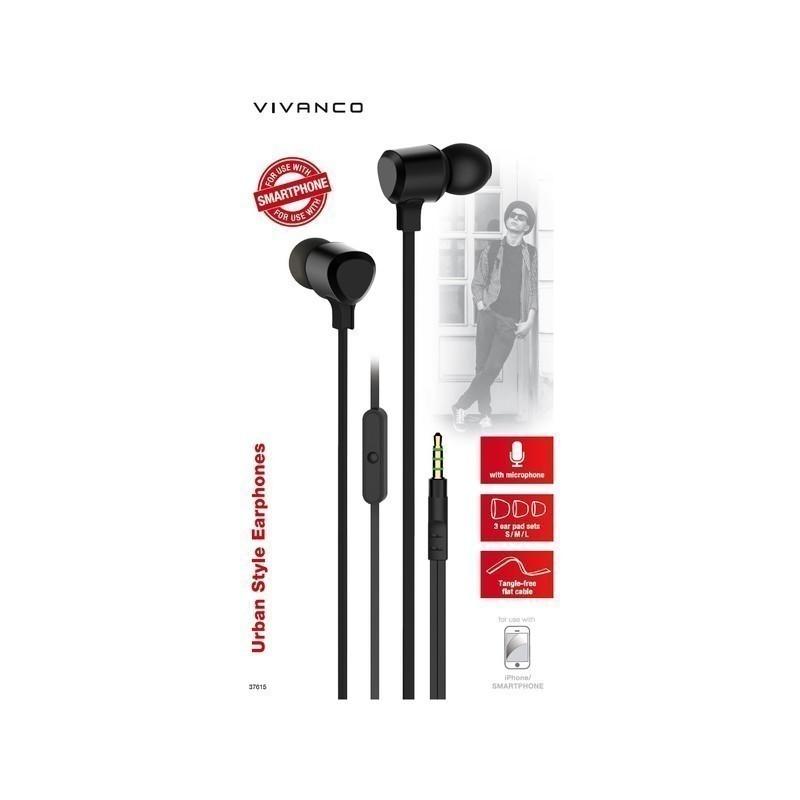 Vivanco kõrvaklapid + mikrofon URB35B, must (37615)