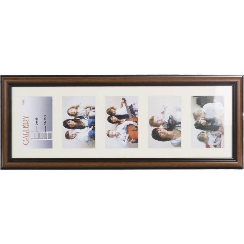 Photo frame Ema Gallery 20x60/5/10x15, brown (VF3969) - Photo frames ...