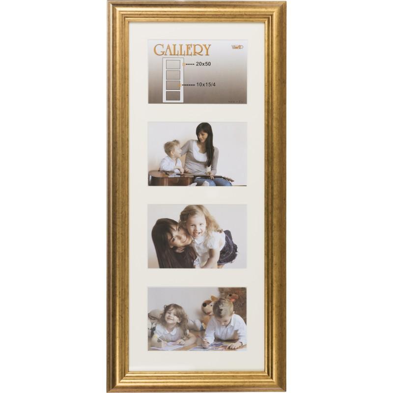 Photo frame Ema Gallery 20x50/4/10x15, gold (VF3967) - Photo frames ...