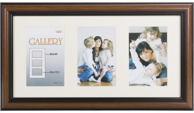 Рамка для фото Ema Gallery 20x40/3/10x15, коричневый (VF3969)