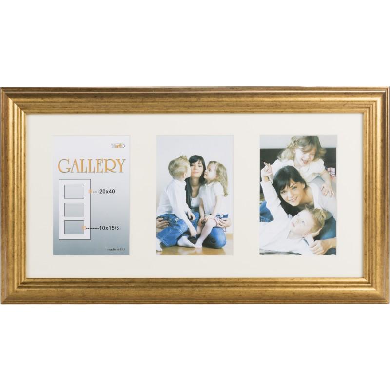 Photo frame Ema Gallery 20x40/3/10x15, gold (VF3967) - Photo frames ...