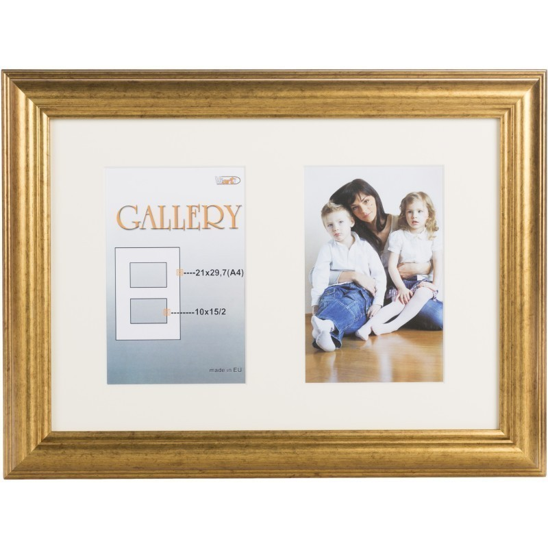 Photo frame Ema Gallery 21x29,7/2/10x15, gold (VF3967) - Photo ...