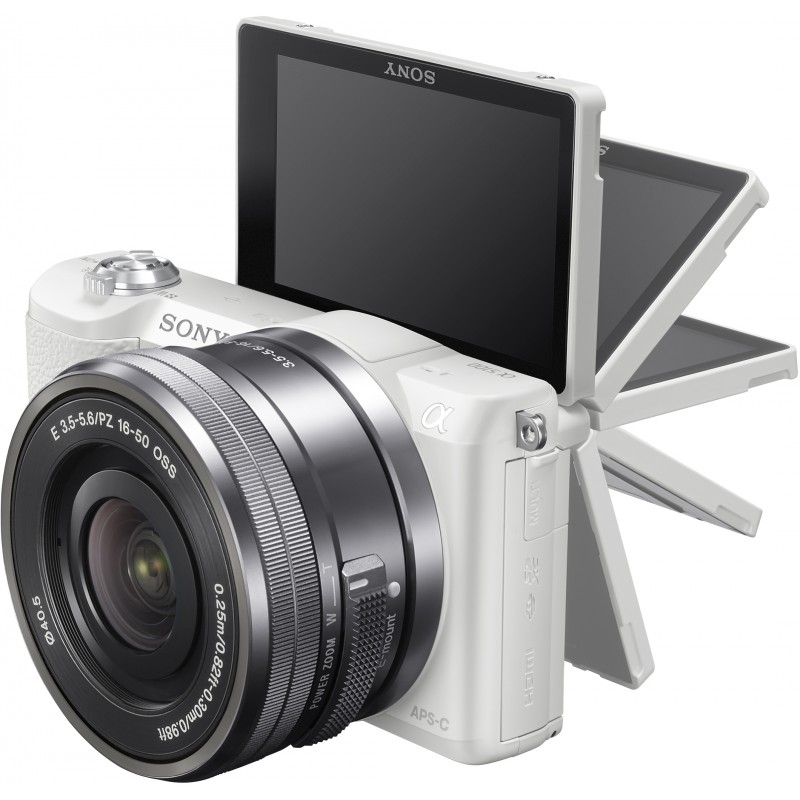 Sony a5100 + 16-50mm Kit, white