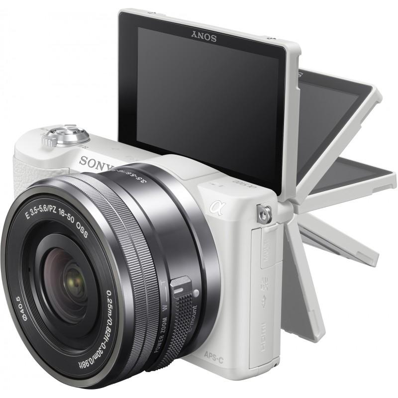 Sony a5100 + 16-50mm Kit, white