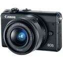 Canon EOS M100 + EF-M 15-45mm + 55-200mm IS STM, black