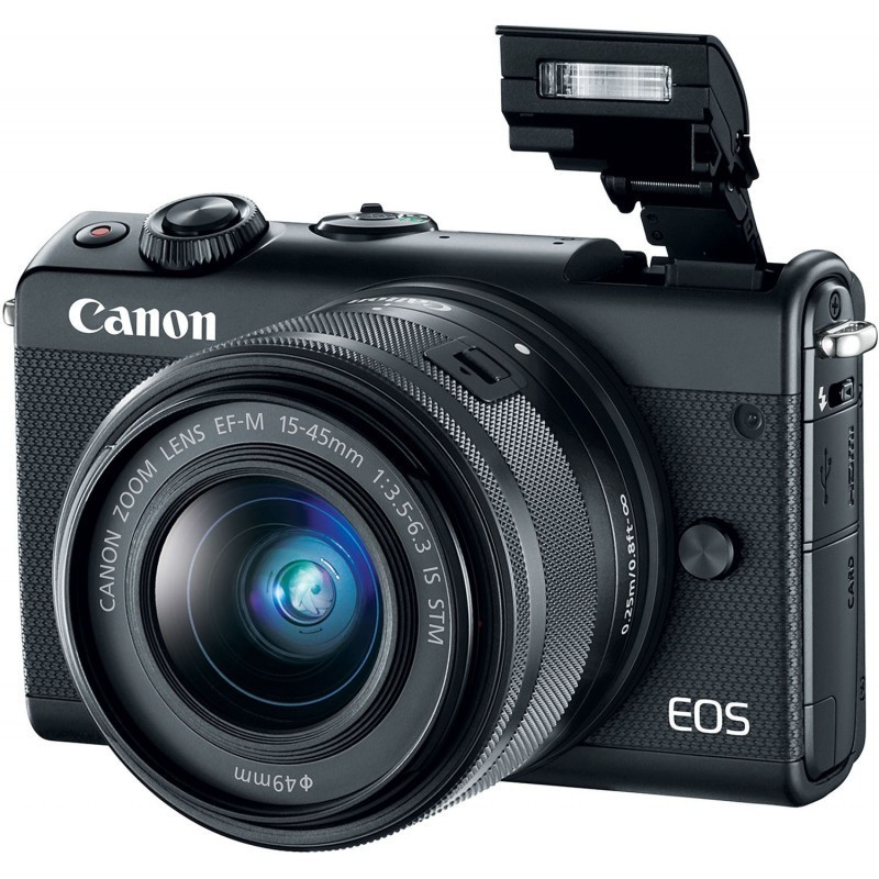 Canon EOS M100 + EF-M 15-45mm + 55-200mm IS STM, must