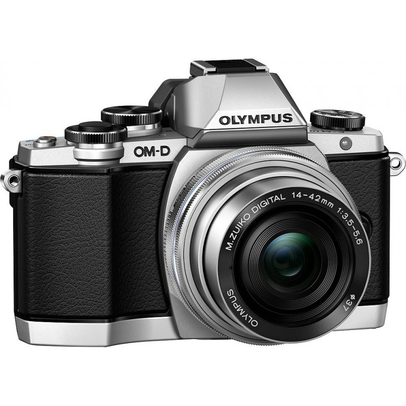 Olympus OM-D E-M10 + 14-42mm EZ + 40-150mm Kit, hõbedane