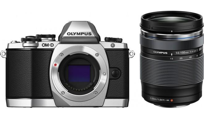 Olympus OM-D E-M10 + 14-150мм II Kit, серебристый/чёрный