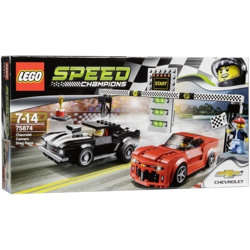 Lego Speed Champions Toy Blocks Chevrolet Camaro Drag Race 75874