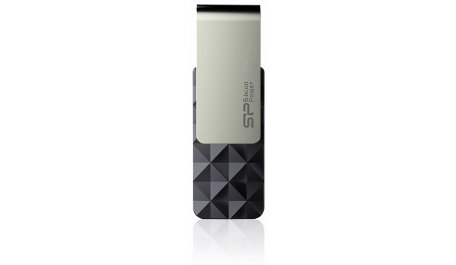 Silicon Power mälupulk 16GB Blaze B30 USB 3.0, must
