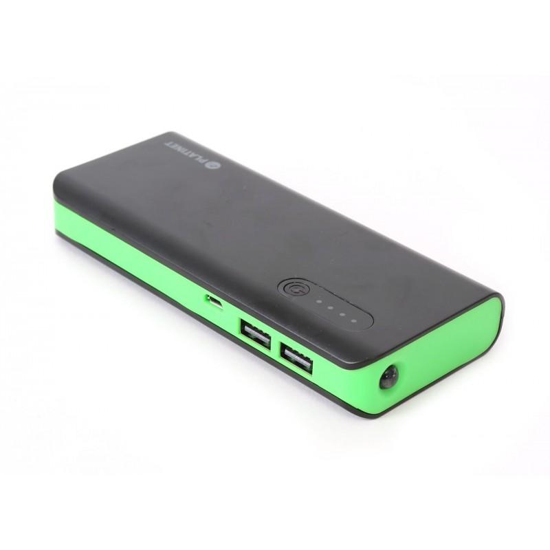 Platinet Power Bank 8000mAh + torch, black/green