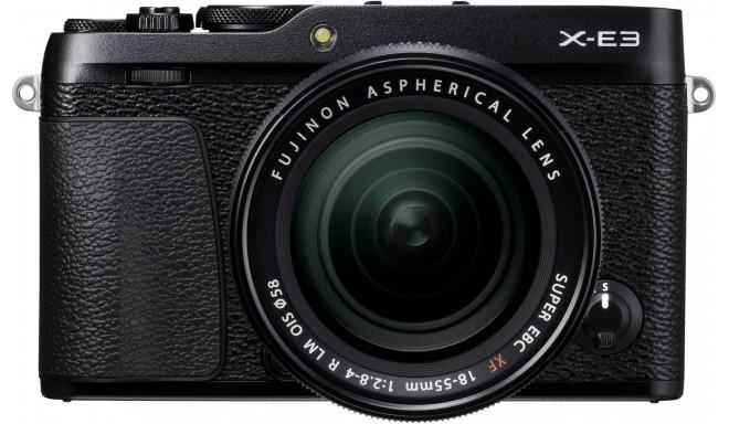 Fujifilm X-E3 + 18-55mm Kit, melns