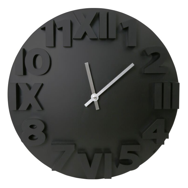 Platinet Wall Clock Modern Black 42985 Wall Clocks