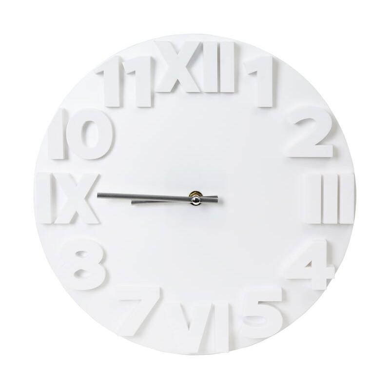 Delightful Modern White Clock Part - 10: Platinet Wall Clock Zegar Modern, White (42986)
