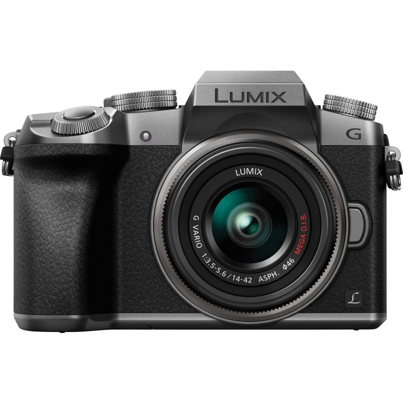 Panasonic Lumix DMC-G7 + 14-42mm Kit, hõbedane