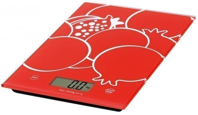 Omega кухонные весы OBSKR, красные