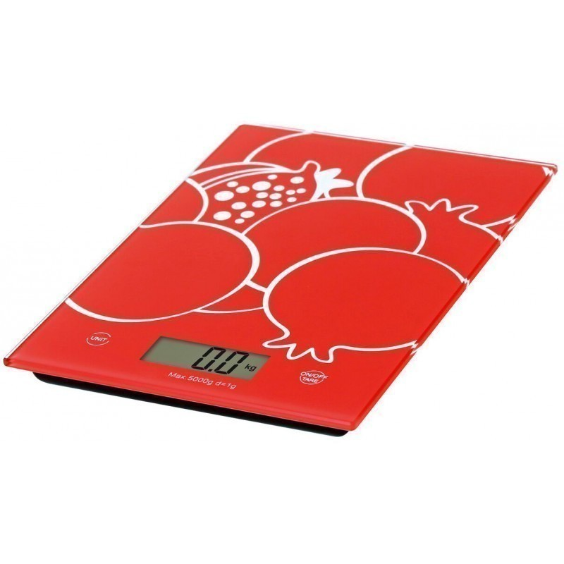 Omega kitchen scale OBSKR, red