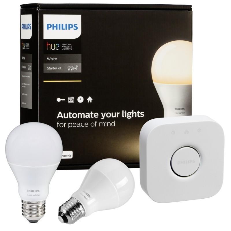 philips hue led bulb e27 starter set white smart lightbulbs photopoint. Black Bedroom Furniture Sets. Home Design Ideas