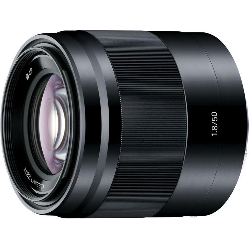 Sony E 50mm f/1.8 OSS objektiiv, must