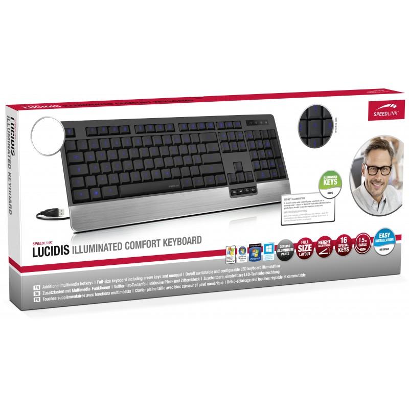 Speedlink klaviatuur Lucidis Illuminated Nordic (SL-6432BK-NC)