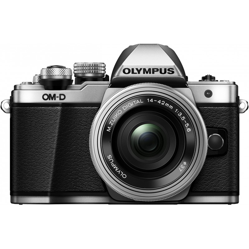 Olympus OM-D E-M10 Mark II + 14-42mm EZ Kit, hõbedane