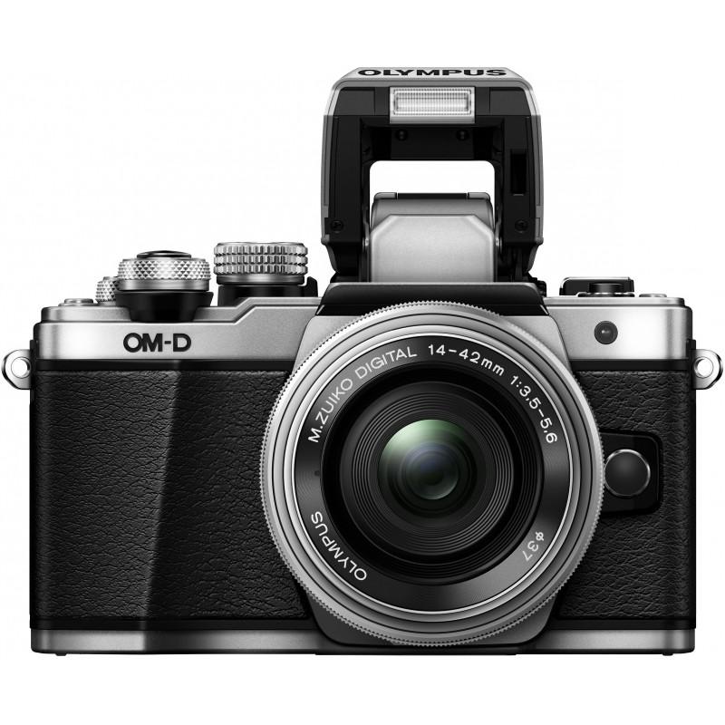 Olympus OM-D E-M10 Mark II + 14-42mm EZ Kit, hõbedane